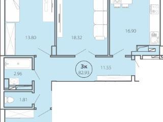 Продажа квартир: 3-комнатная квартира, Ханты-Мансийский автономный округ, Сургут, ул. Ивана Захарова, 13, фото 1