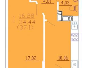Продажа квартир: 1-комнатная квартира, Краснодар, ул. им Петра Метальникова, 287, фото 1