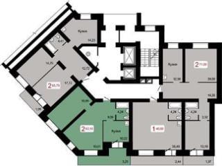 Продажа квартир: 2-комнатная квартира в новостройке, Красноярск, ул. Михаила Годенко, 2, фото 1
