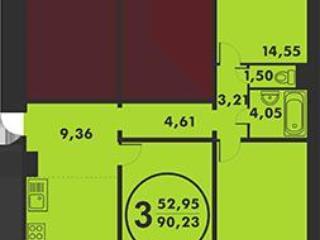 Продажа квартир: 3-комнатная квартира, Тюменская область, Тюмень, Кремлевская ул., 100, фото 1