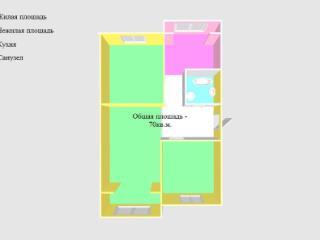 Купить 3 комнатную квартиру по адресу: Черкесск г пер Одесский 12