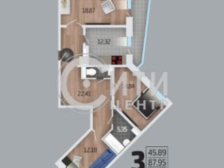 Продажа квартир: 3-комнатная квартира в новостройке, Воронеж, ул. 9 Января, 54, фото 1
