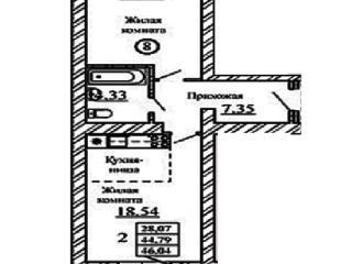 Продажа квартир: 2-комнатная квартира в новостройке, Новосибирская область, Новосибирский р-н, рп. Краснообск, Западная ул., 252, фото 1