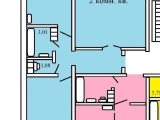 Продажа квартир: 2-комнатная квартира, Челябинская область, Копейск, ул. Кирова, 10, фото 1