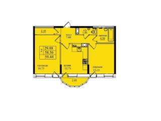 Продажа квартир: 2-комнатная квартира, Санкт-Петербург, п. Парголово, ул. Федора Абрамова, 20, фото 1
