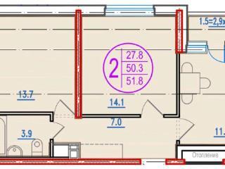 Продажа квартир: 2-комнатная квартира, Краснодар, Московская ул., фото 1
