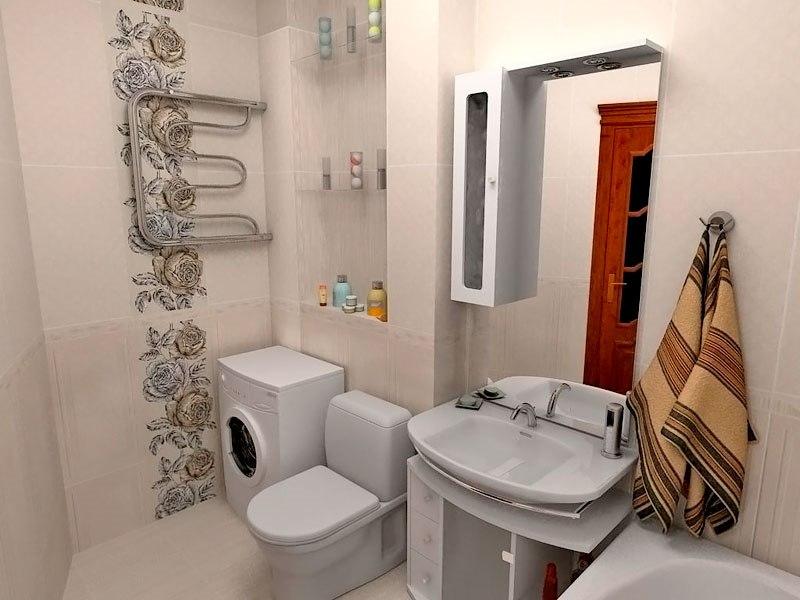 Фото дизайна совмещенного малогабаритного туалета