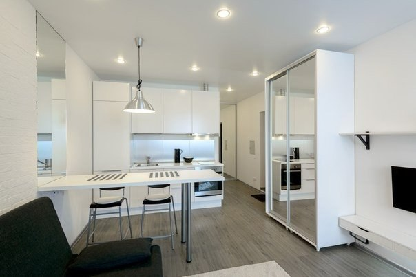 Дизайн интерьера кухни 30 кв
