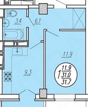 Продажа квартир: 1-комнатная квартира, Краснодар, Московская ул., 118, фото 1