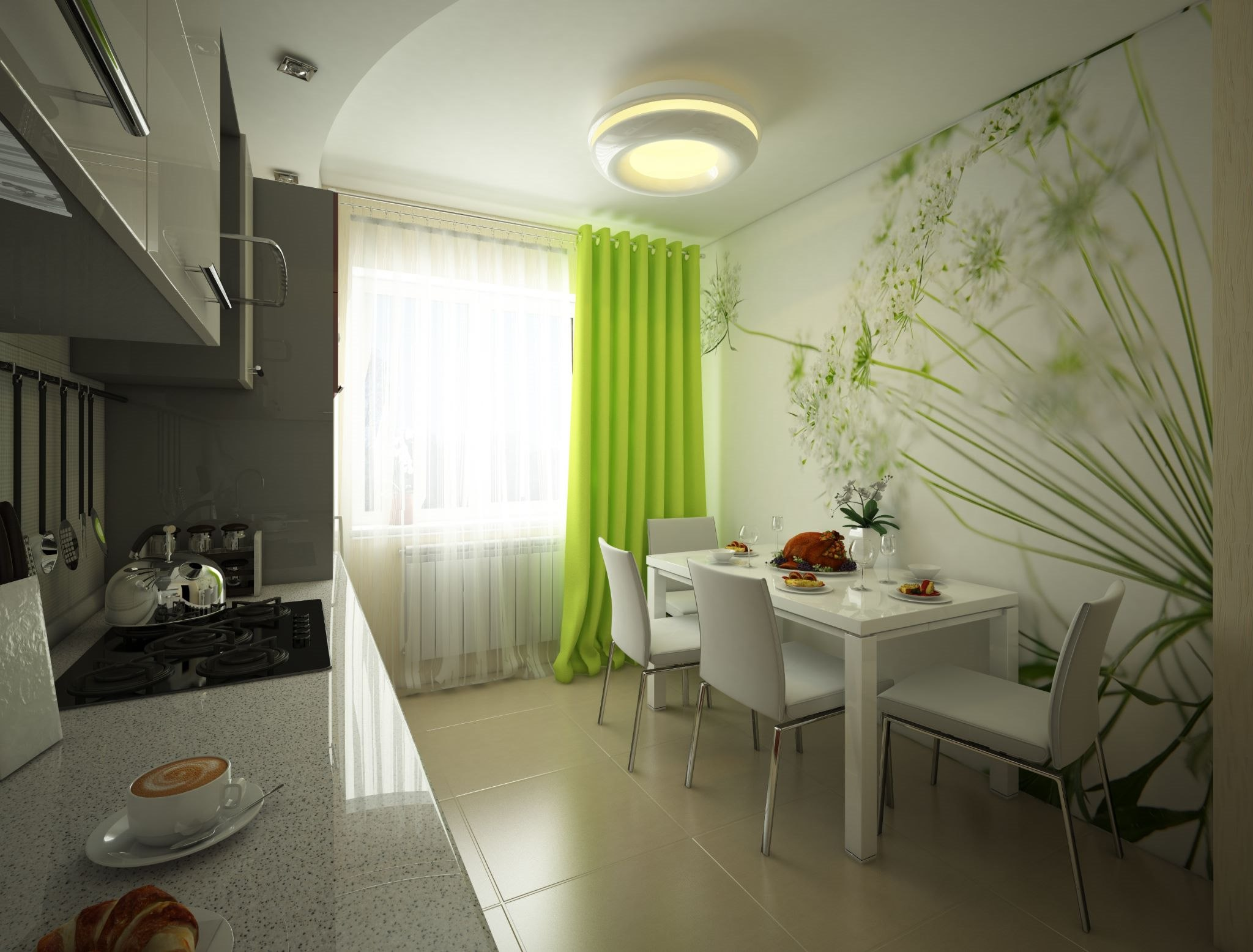 Идея фото кухни 17 кв.м