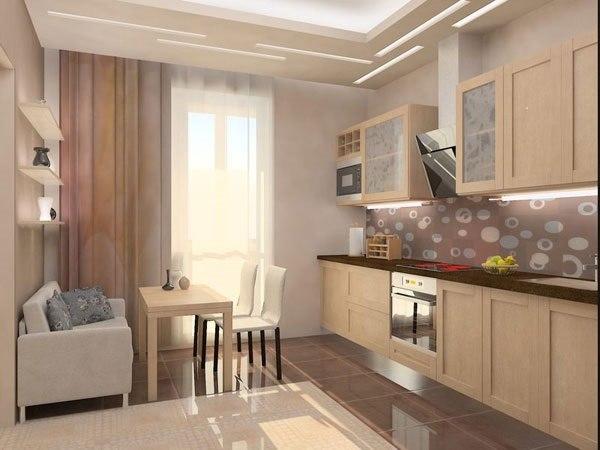 Интерьер кухни с балконом: оптимальные варианты.